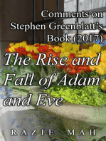 Comments on Stephen Greenblatt's Book (2017) The Rise and Fall of Adam and Eve