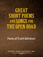 Great Short Poems and Songs for the Open Road
