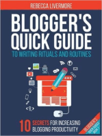 Blogger's Quick Guide to Writing Rituals and Routines