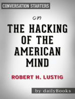 The Hacking of the American Mind by Robert Lustig | Conversation Starters