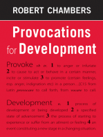 Provocations for Development