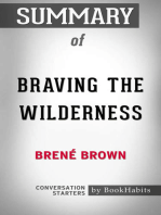 Summary of Braving the Wilderness by Brene Brown | Conversation Starters