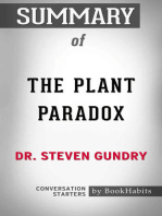 Summary of The Plant Paradox by Dr. Steven Gundry | Conversation Starters