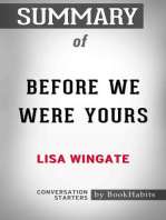 Summary of Before We Were Yours by Lisa Wingate | Conversation Starters