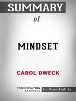 Summary of Mindset by Carol S. Dweck | Conversation Starters