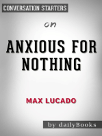 Anxious for Nothing by Max Lucado | Conversation Starters