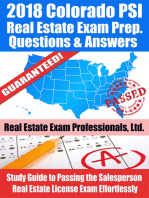 2018 Colorado PSI Real Estate Exam Prep Questions and Answers