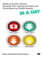Build an Author Brand, Develop Your Amazon Profile and Participate on Kindle Boards IN A DAY