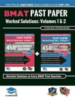 BMAT Past Paper Worked Solutions Volume 1 & 2: 2003 - 2016, Fully worked answers to 900+ Questions, Detailed Essay Plans, BioMedical Admissions Test Book: Full ... question + Essay