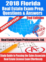 2018 Florida Real Estate Exam Prep Questions, Answers & Explanations