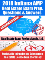 2018 Indiana VUE Real Estate Exam Prep Questions and Answers