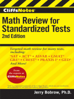 CliffsNotes Math Review for Standardized Tests, 2nd Edition