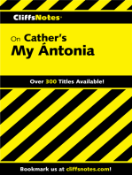 CliffsNotes on Cather's My Ántonia