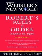 Webster's New World Robert's Rules of Order Simplified and Applied, 2nd Edition
