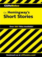 CliffsNotes on Hemingway's Short Stories