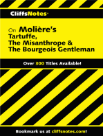 CliffsNotes on Moliere's Tartuffe, The Misanthrope & The Bourgeois Gentleman