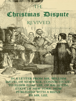 The Christmas Dispute Revived