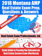 2018 Montana AMP Real Estate Exam Prep Questions and Answers