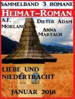 Heimatroman Sammelband Liebe und Niedertracht 3 Romane Januar 2018
