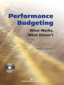 Performance Budgeting (with CD): What Works, What Doesn't