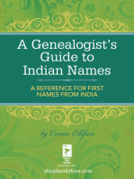 A Genealogist's Guide to Indian Names