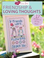 I Love Cross Stitch Friendship & Loving Thoughts