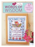 I Love Cross Stitch Words of Wisdom