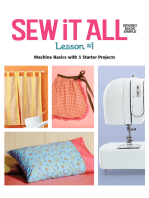 Sew it All Lesson #1