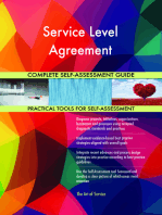 Service Level Agreement Complete Self-Assessment Guide