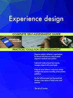 Experience design Complete Self-Assessment Guide