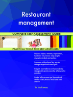 Restaurant management Complete Self-Assessment Guide