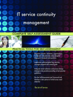 IT service continuity management Complete Self-Assessment Guide