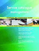 Service catalogue management Complete Self-Assessment Guide