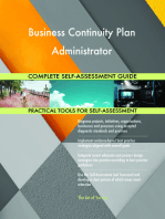 Business Continuity Plan Administrator Complete Self-Assessment Guide
