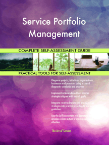 Service Portfolio Management Complete Self-Assessment Guide