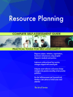 Resource Planning Complete Self-Assessment Guide