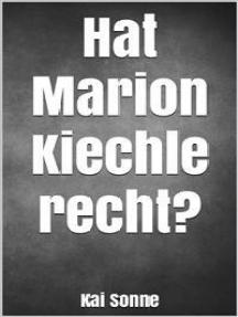 Hat Marion Kiechle recht?