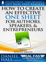 How to Create an Effective One Sheet for Authors, Speakers, and Entrepreneurs