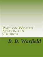 Paul on Women Speaking in Church