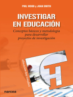 Investigar en educación: Conceptos básicos y metodología para desarrollar proyectos de investigación