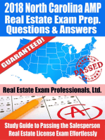 2018 North Carolina AMP Real Estate Exam Prep Questions, Answers & Explanations