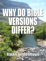 Why do Bible versions differ?
