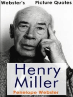 Webster's Henry Miller Picture Quotes