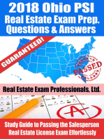 2018 Ohio PSI Real Estate Exam Prep Questions, Answers & Explanations