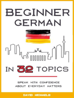 Beginner German in 32 Topics