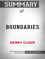 Summary of Boundaries by Dr. Henry Cloud | Conversation Starters