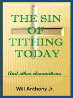The Sin Of Tithing Today