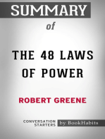 Summary of The 48 Laws of Power by Robert Greene | Conversation Starters