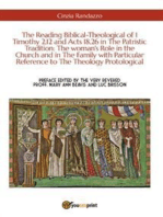 The Reading Biblical-Theological of 1 Timothy 2,12 and Acts 18,26 in The Patristic Tradition