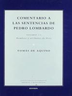 Comentario a las sentencias de Pedro Lombardo I/2